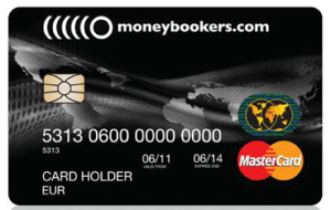 The Moneybookers Prepaid MasterCard Card Image