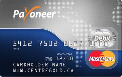 The Payoneer Prepaid MasterCard Card Image