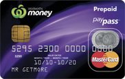 The image by Woolworths Money Reloadable Prepaid MasterCard Card