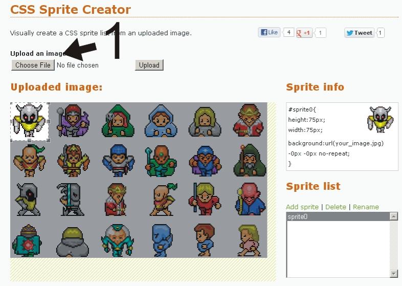 CSS Sprites Creator