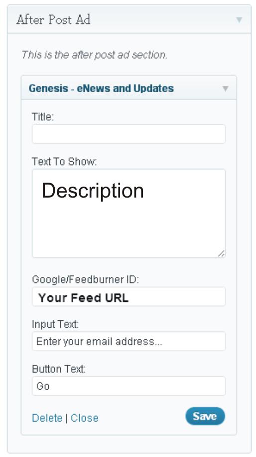 Widget in WordPress Admin Panel